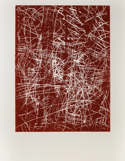 ERDUNG 01 | Holzdruck | 80 cm x 120 cm | © Martina Stürzl-Koch