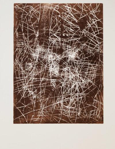 ERDUNG 03 | Holzdruck | 80 cm x 120 cm | © Martina Stürzl-Koch