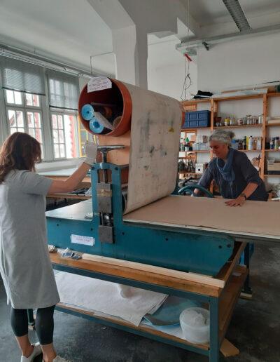 SUM-I | 2019 | Holzdruck - Arbeitsphase | © Martina Stürzl-Koch