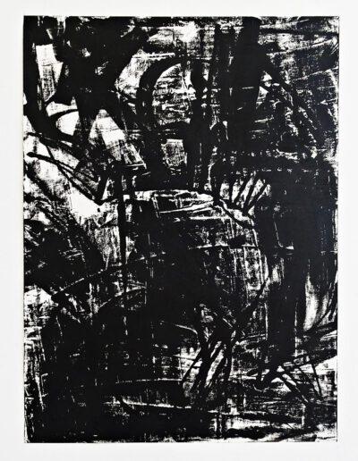 SUM-I | 2017 | Ölmonotypie | 100 x 140 cm | Detailansicht: 3 von 8 | © Martina Stürzl-Koch
